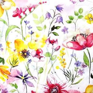 Paper+Design ドイツ ペーパーナプキン 花の牧草地 flower meadow バラ売り2枚1セット L-200681 デコパージュ ドリパージュ|ccpopo