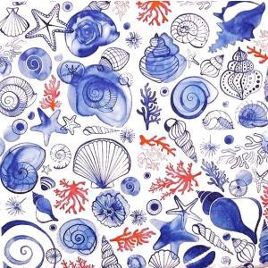 Paper+Design ドイツ ペーパーナプキン シーライフ 海中 Sea Life バラ売り2枚1セット L-200684 デコパージュ ドリパージュ|ccpopo