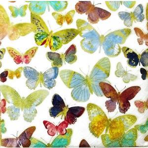 Paper+Design ドイツ ペーパーナプキン ゴールデンバタフライ 蝶 Golden butterflies バラ売り2枚1セット L-200687 デコパージュ ドリパージュ|ccpopo