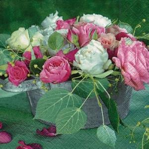 かわいいペーパーナプキン ドイツ製 ランチサイズ Composition of roses 2枚 L-21717 デコパージュ ドリパージュ|ccpopo