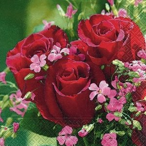 ドイツ製ペーパーナプキン バラの花園 バラ売り2枚1セット L-21738 デコパージュ ドリパージュ|ccpopo