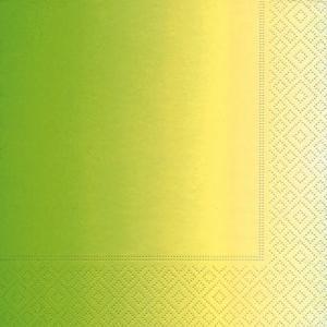 かわいいペーパーナプキン ドイツ製 ランチサイズ グラデーショングリーン 2枚 L-21842 デコパージュやハンドメイドに デコパージュ ドリパージュ|ccpopo