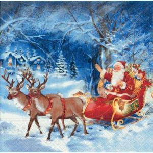 ドイツ製ペーパーナプキン Lunch napkins Santa on tour バラ売り2枚1セット L-60642|ccpopo