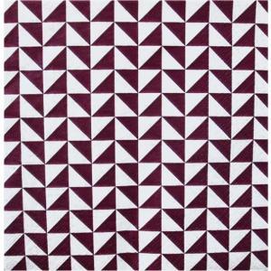 1枚バラ売りペーパーナプキン Paw ポーランド チェック柄 紫 Lanes of Triangles violet SDL094724 デコパージュ ドリパージュ|ccpopo