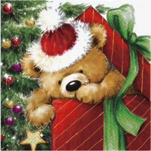 Paw ポーランド ペーパーナプキン ランチサイズ テディーベアのプレゼント Teddy Bear Gift バラ売り2枚1セット SDL-056900 デコパージュ ドリパージュ ccpopo