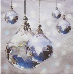 Paw ポーランド ペーパーナプキン ランチサイズ Crystal Christmas バラ売り2枚1セット SDL-073600 デコパージュ