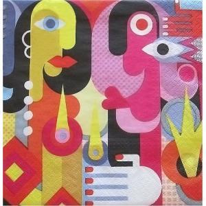 Paw ポーランド ペーパーナプキン ランチサイズ Ala Picasso バラ売り2枚1セット SDL-077700 デコパージュ