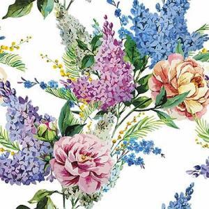 かわいいペーパーナプキン ポーランド製 ランチサイズ 春に咲くライラック Spring Lilac 2枚 SDL-084900 デコパージュやハンドメイドに