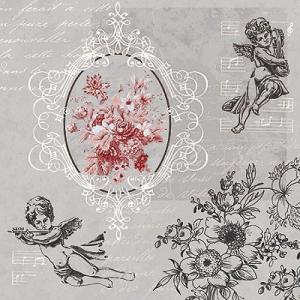 かわいいペーパーナプキン ポーランド製 ランチサイズ Angels among Flowers 2枚 SDL-089400 デコパージュやハンドメイドに