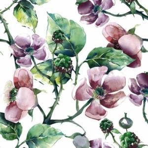 かわいいペーパーナプキン ポーランド製 ランチサイズ ピンクのワイルドローズ Pink Wild Roses 2枚 SDL-089500 デコパージュやハンドメイドに