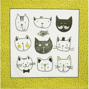 Paw ポーランド ペーパーナプキン ランチサイズ かわいい猫ちゃん Funny Cats バラ売り2枚1セット SDL-094300 デコパージュ デコナップ