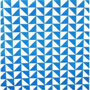 Paw ポーランド ペーパーナプキン ランチサイズ Lanes of Triangles blue バラ売り2枚1セット SDL-094705 デコパージュ ドリパージュ|ccpopo