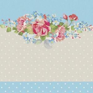 Paw ポーランド ペーパーナプキン ランチサイズ Summer Bouquet バラ売り2枚1セット SDL-972000 デコパージュ