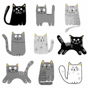 TETE a TETE ポーランド ペーパーナプキン ランチサイズ 9匹の猫 キャット Nine Cats バラ売り2枚1セット TL260019A デコパージュ ドリパージュ|ccpopo