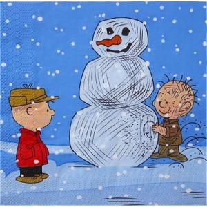 1枚バラ売りペーパーナプキン スヌーピー snoopy Peanuts クリスマス CHRISTMAS 紙ナフキン デコパージュ ドリパージュ 13711093|ccpopo