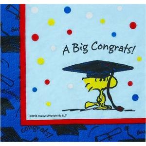 1枚バラ売り25cmペーパーナプキン スヌーピー snoopy Peanuts Woodstock ウッドストック 卒業式 2枚重ね 紙コースター デコパージュ ドリパージュ 13728680|ccpopo
