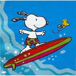1枚バラ売り25cmペーパーナプキン スヌーピー サーフィン snoopy Peanuts surfboarding Snoopy 紙コースター デコパージュ ドリパージュ|ccpopo