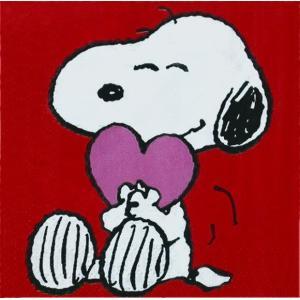 1枚バラ売り25cmペーパーナプキン スヌーピー snoopy Peanuts VALENTINE 2枚重ね 紙コースター デコパージュ ドリパージュ 13721869|ccpopo