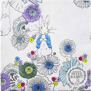1枚バラ売りペーパーナプキン ピーターラビット PETER RABBIT ペーパーナプキン BEATRIX POTTER イギリス 絵本 ドリパージュ デコパージュ 9009023|ccpopo