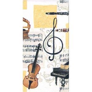 IHR ドイツ ポケットペーパーナプキン 紙ナフキン 紙ハンカチ クラシック音楽 ピアノ バイオリン 楽譜 音符 MUSICA CLASSICA 21cm角 2枚1セット|ccpopo