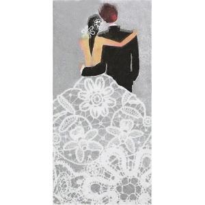 sniff ドイツ ポケットペーパーナプキン 紙ナフキン 紙ハンカチ 結婚式 ウェディング Wedding Couple silver 21cm角 2枚1セット|ccpopo