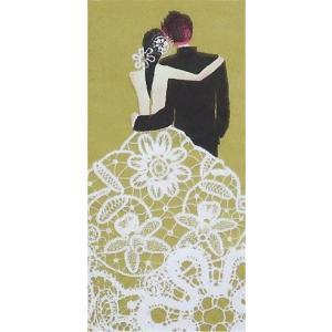 sniff ドイツ ポケットペーパーナプキン 紙ナフキン 紙ハンカチ 結婚式 ウェディング Wedding Couple gold 21cm角 2枚1セット|ccpopo