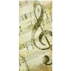 sniff ドイツ ポケットペーパーナプキン 紙ナフキン 紙ハンカチ 音楽 音符 譜面 楽譜 La musica 21cm角 2枚1セット p-50888|ccpopo