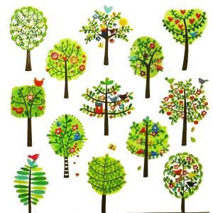 1枚バラ売りペーパーナプキン 廃版 PPD ドイツ ペーパーナプキン Lunch napkins Spring City Trees 133-1955 デコパージュ ドリパージュ|ccpopo