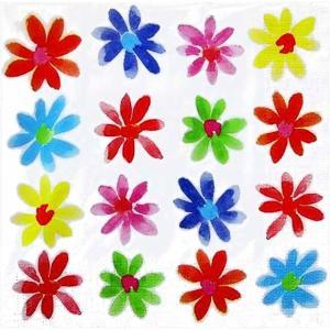 PPD ドイツ ペーパーナプキン Lunch napkins カラフルな花 Aquarell Flowerfield バラ売り2枚1セット L-133-2352 デコパージュ ドリパージュ|ccpopo