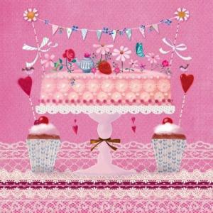 PPD ドイツ ペーパーナプキン ラブリーケーキ Lovely Cake バラ売り2枚1セット L-133-2420 デコパージュ ドリパージュ|ccpopo