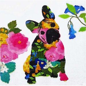 PPD ドイツ ペーパーナプキン Lunch napkins カラフルな犬 ドッグ Brigitte バラ売り2枚1セット L-133-2423 デコパージュ ドリパージュ|ccpopo