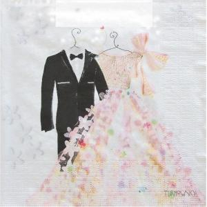 PPD ドイツ ペーパーナプキン 結婚式 新郎新婦 Bride & Groom バラ売り2枚1セット L-133-2427 デコパージュ ドリパージュ|ccpopo