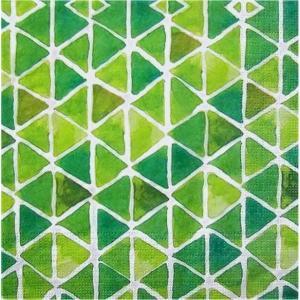 PPD ドイツ ペーパーナプキン Lunch napkins トライアングル 緑 グリーン バラ売り2枚1セット L-133-2753 デコパージュ ドリパージュ|ccpopo