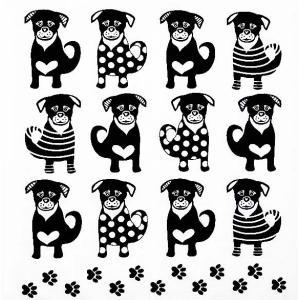 PPD ドイツ ペーパーナプキン Lunch napkins 12匹の犬 Twelve Dogs バラ売り2枚1セット 133-3019 デコパージュ ドリパージュ ccpopo