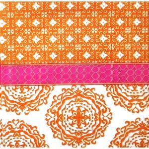 PPD ドイツ ペーパーナプキン Lunch napkins Madaket orange pink バラ売り2枚1セット 133-3096 デコパージュ ドリパージュ|ccpopo