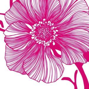 1枚バラ売り25cmペーパーナプキン PPD ドイツ 海辺の花 フラワー Sea Flower pink 125-1932 紙コースター デコパージュ ドリパージュ ccpopo