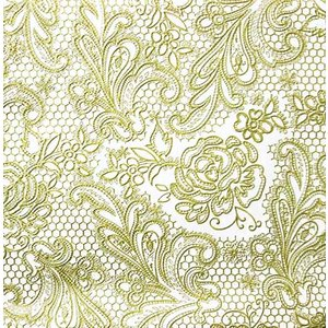 PPD ドイツ ペーパーナプキン Lunch napkins 3Dエンボス レースローヤル Lace Royal embossed 立体的 バラ売り2枚1セット L-7658 デコパージュ ドリパージ|ccpopo