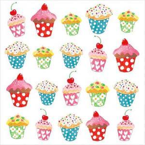PPD ドイツ ペーパーナプキン Sweet Cupcakes バラ売り2枚1セット L-133-1526 デコパージュ ドリパージュ|ccpopo