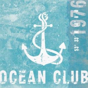 PPDドイツ ペーパーナプキン オーシャンクラブ Ocean Club バラ売り2枚1セット L-133-1858 デコパージュ ドリパージュ|ccpopo
