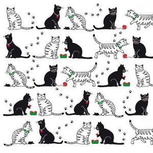 PPDドイツ ペーパーナプキン Cats & Cats バラ売り2枚1セット L-133-1952 デコパージュ ドリパージュ ccpopo