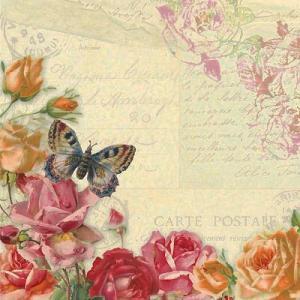 PPDドイツ ペーパーナプキン Vintage Butterflies バラ売り2枚1セット L-p-7377 デコパージュ ドリパージュ|ccpopo