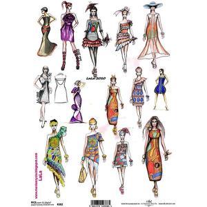 作品販売可能 ポーランド デコパージュ用ライスペーパー Rice paper A4 R0382 ファッション 女性 パーツ モチーフ|ccpopo