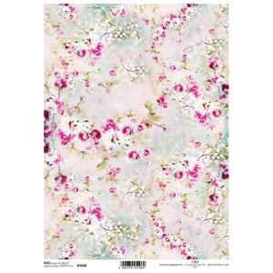 作品販売可能 ポーランド デコパージュ用ライスペーパー Rice paper A4 R1668 花々 背景 バックグラウンド|ccpopo