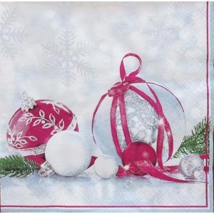 1枚バラ売りペーパーナプキン 在庫限りセール Maki ポーランド ペーパーナプキン 雪の結晶 冬景色 SLGW-012401 紙ナフキン デコパージュ ドリパージュ ccpopo