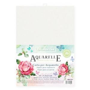 スタンペリア Stamperia イタリア 水彩紙 A5 10枚セット Aquarelle Paper Pack, 10 Sheets SBA391 2019秋冬|ccpopo