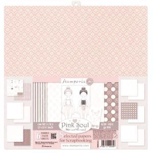 スタンペリア Stamperia イタリア 両面柄 スクラップブッキングペーパー 6枚12面アソート Pink Soul SBBKL603 12x12インチ 2019秋冬|ccpopo