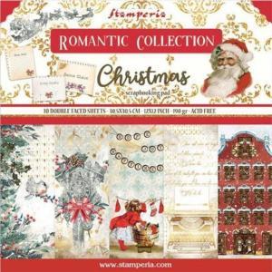 スタンペリア Stamperia イタリア 両面柄 12インチペーパーセット 30.5x30.5cm SBBL96 Double Face  ロマンティック クリスマス Romantic Christmas ccpopo