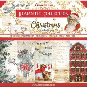 スタンペリア Stamperia イタリア 両面柄 ペーパーセット20.3X20.3cm SBBS44 Double Face ロマンティッククリスマス Romantic Christmas ccpopo
