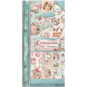 スタンペリア Stamperia コレクタブル 6x12インチ(15x30,5cm)両面柄ペーパーセット10シート SBBV09 Collectables 10 sheets Pink Christmas ccpopo