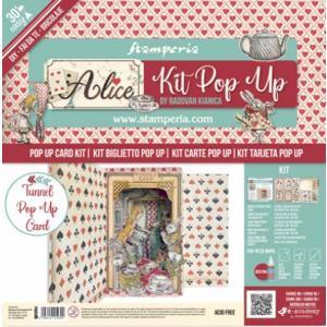 スタンペリア Stamperia ポップアップキット Pop up kit 不思議の国のアリス アリスワンダーランド Alice wonderland SBPOP04 ccpopo
